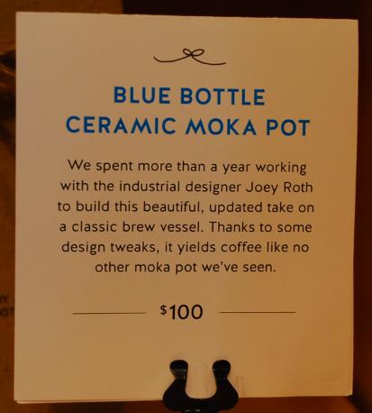Moka Pot Blue Bottle