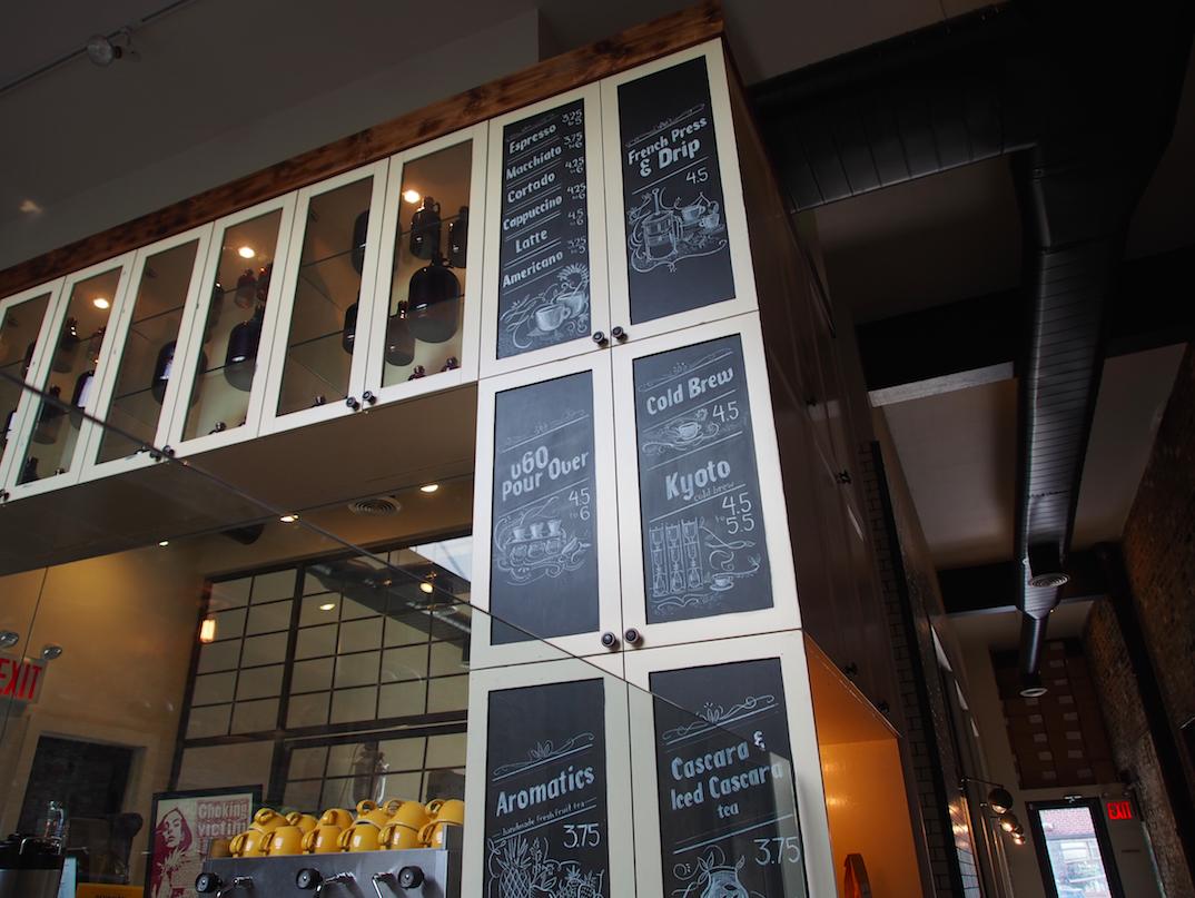 Speisekarte und Getränkekarte im NYC Brooklyn Devocion