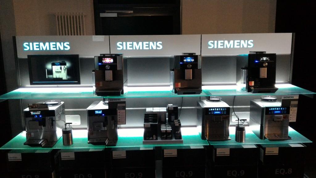 Siemens EQ Serie im Seminarraum der Kaffeerösterei Dinzler