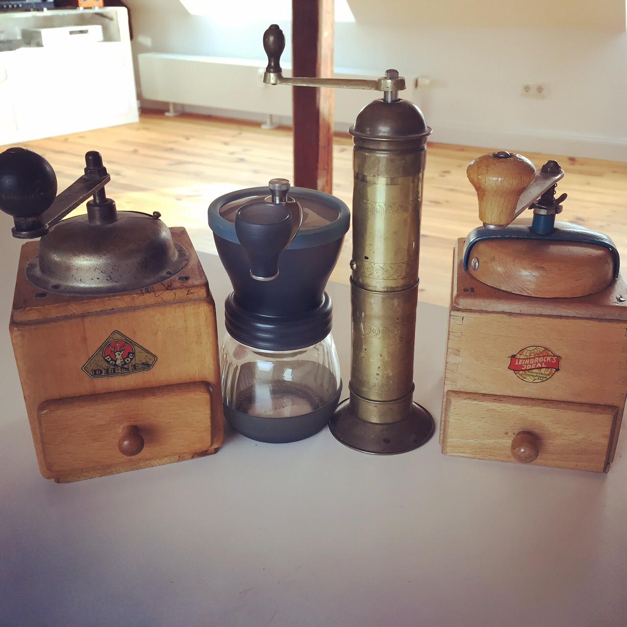 Meine Kaffeemühlen Auswahl