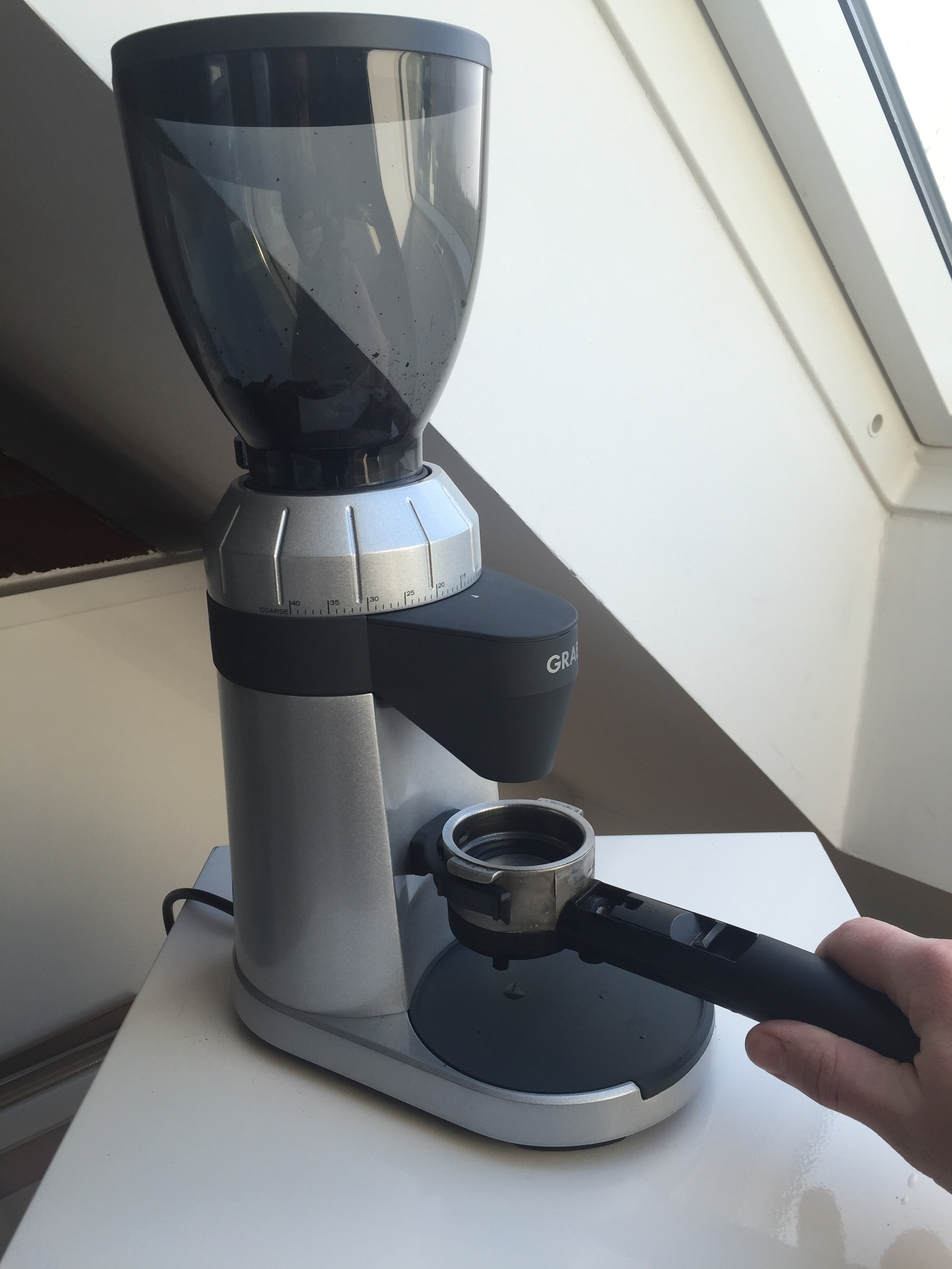 Graef CM 800 Kaffeemühle Einsatz Siebträger