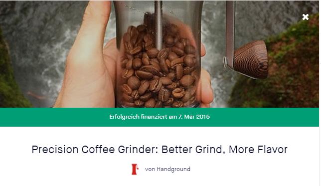 Handground Kaffeemühle Kickstarter