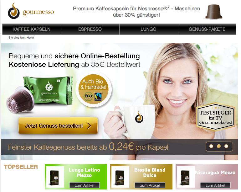 Gourmesso Online Shop