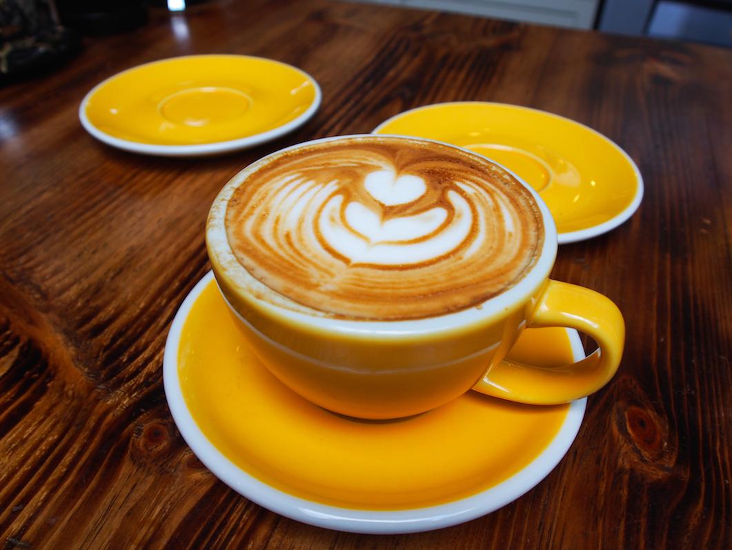 Latte Art und toller Geschmack des Kaffees