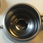 Innenansicht vom Griff Hario Buono V60 Drip Kettle Kanne 1 Liter