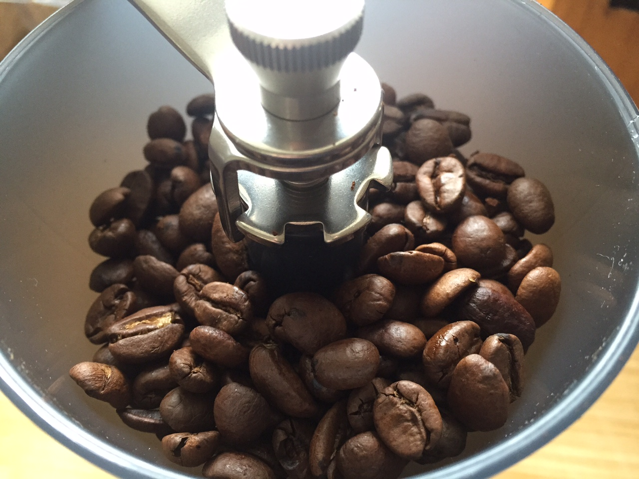 Kaffeefüllmenge bei der Skerton Kaffeemühle
