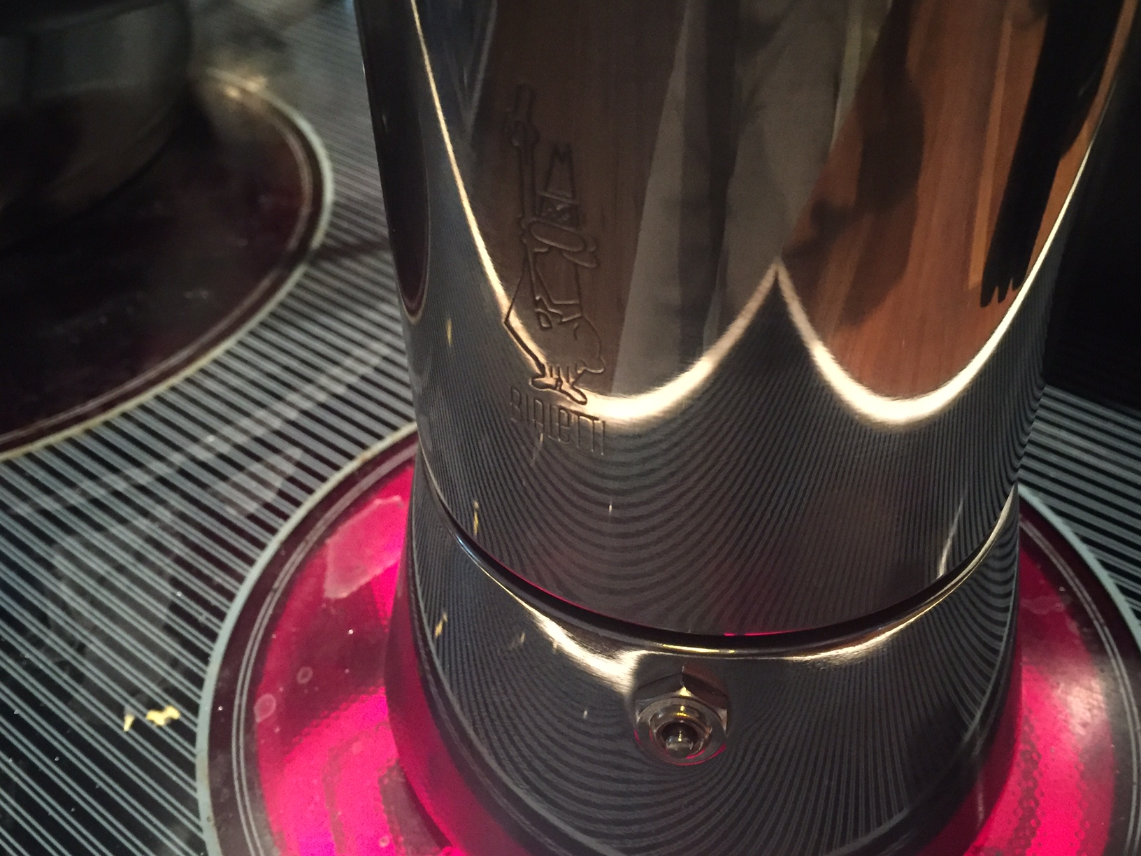 Bialetti Venus auf Kochplatte