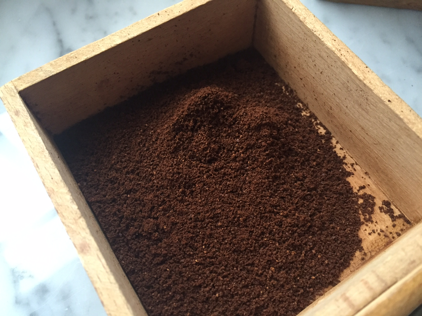 Feines Kaffeemehl Espressokocher Bialetti