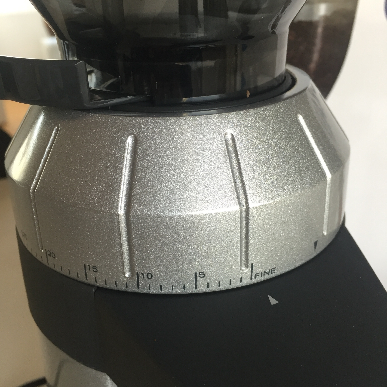 Mahlgradeinstellungen CM 800 Kaffeemühle