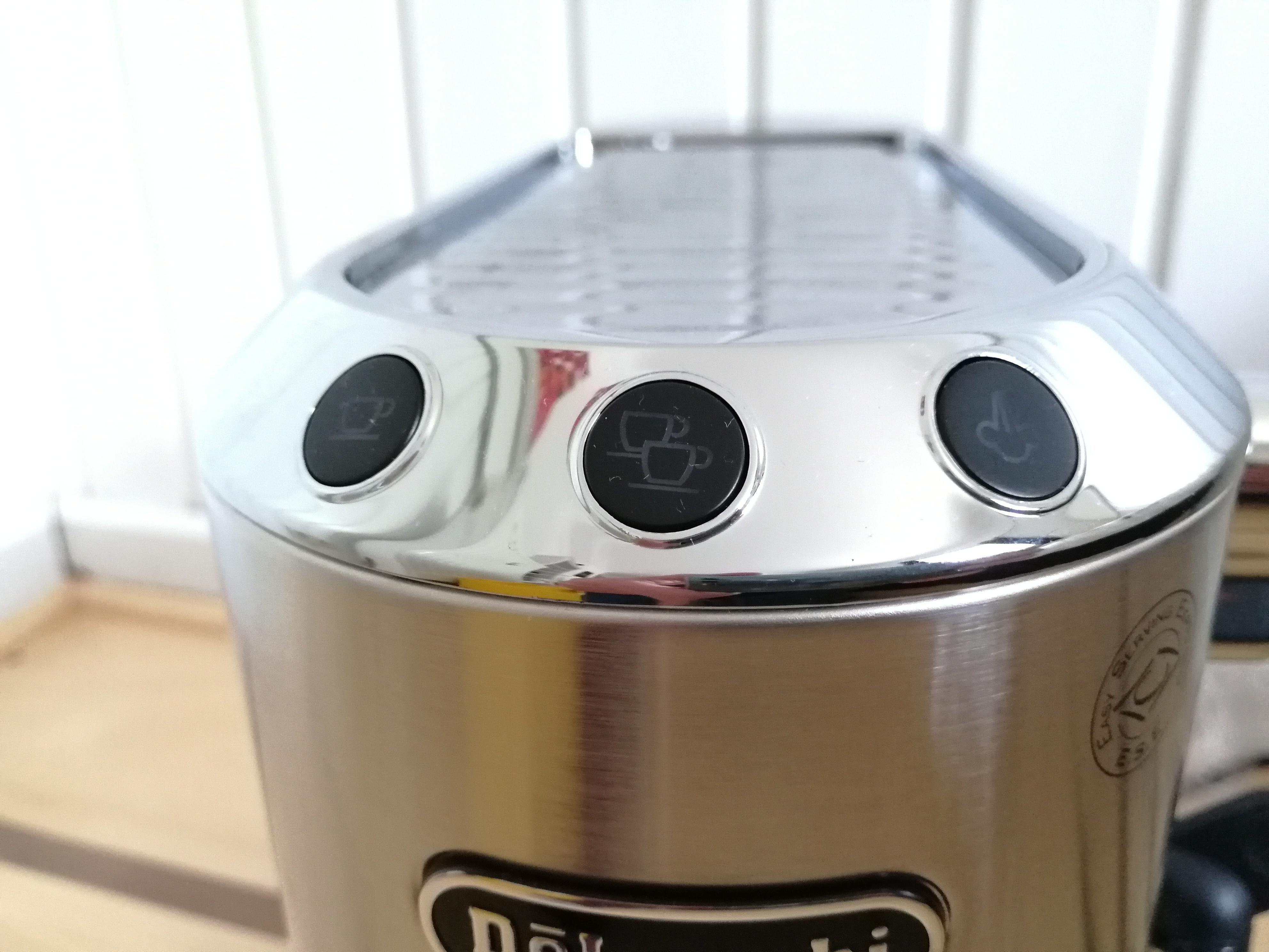 Schaltknoepfe Siebtraeger Espressomaschine Delonghi dedica